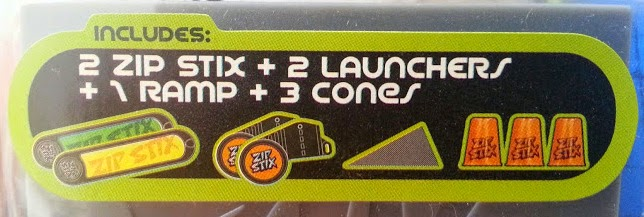 Zip Stix Stunt Pack Review what's in the pack