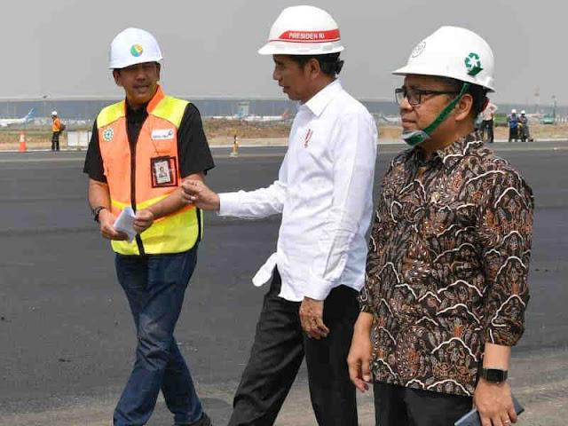 Jokowi Tinjau Perkembangan Landasan Pacu Ketiga Bandara Soekarno-Hatta