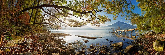 Herbststimmung am Zugersee auf der Chiemenhalbinsel