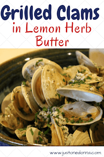Grilled Clams in Lemon Herb Butter