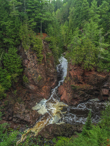 Bad River at Devil's Gate in Copper Falls State Park