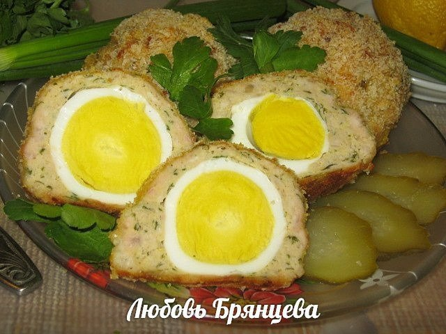 яйца по шотландски в духовке