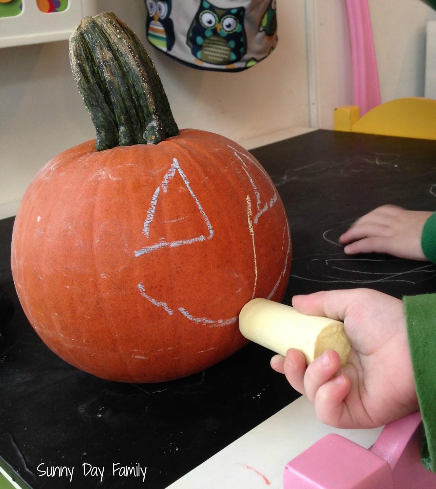 chalkboard pumpkin activity