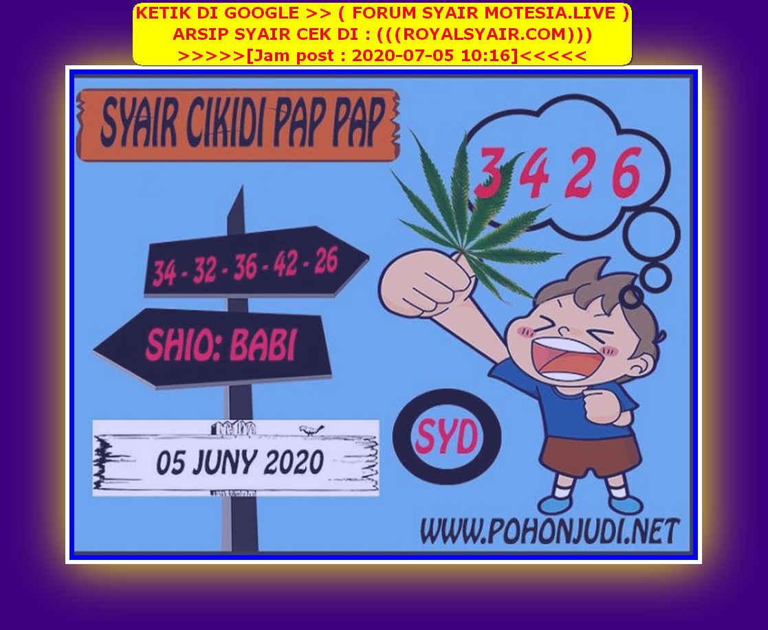 Kode syair Sydney Minggu 5 Juli 2020 100