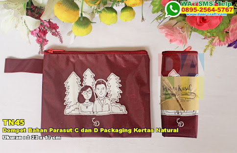 Dompet Bahan Parasut C Dan D Packaging Kertas Natural