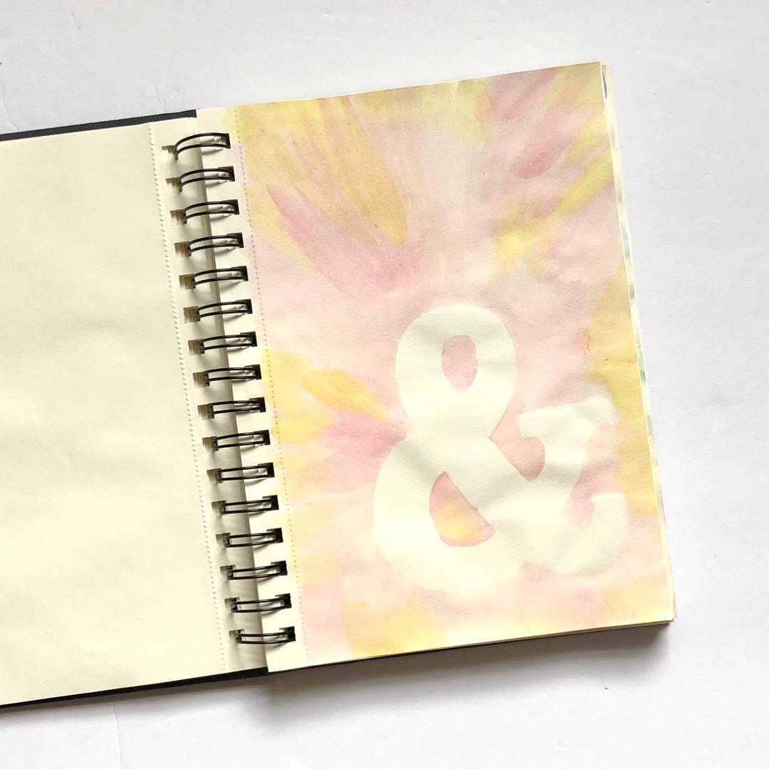 #watercolor #art journaling #art journal #mixed media #watercolor art journal #summer projects #doodling #me time #ampersand #stencil