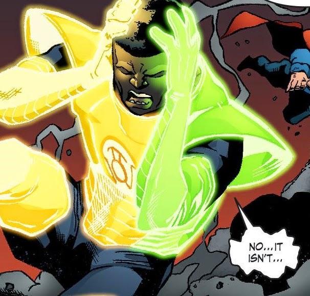 yellow lantern superman - 606×577