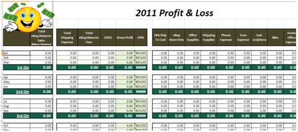 Download Profit and Loss in Excel template