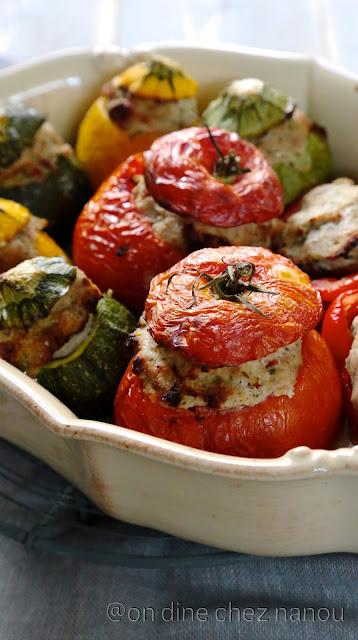 tomates farcies , sans oeuf , veau , bacon