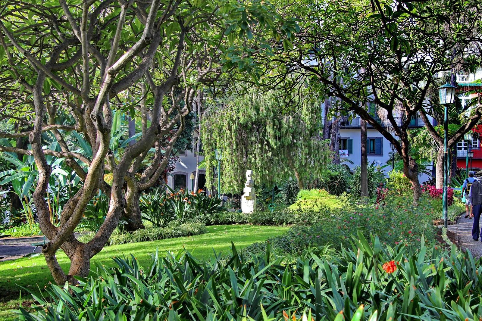 perspetiva diferente do Jardim Municipal