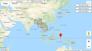 Beam Ku Band satelit Laosat1