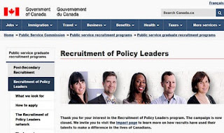 Government of Canada Recruitment of Policy Leaders Program 2018 - Apply Here