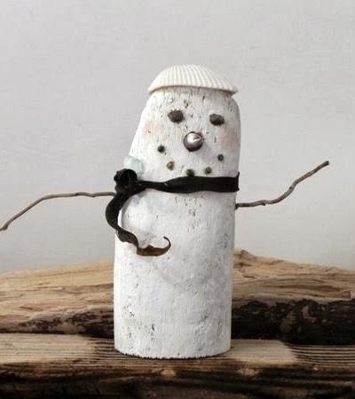driftwood snowman