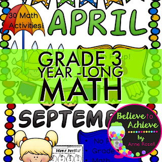 Grade 3 Year Long Math Bundle