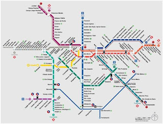 mapa do metro de sp