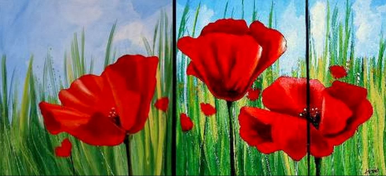 abstractos con flores trpticos modernos pintados al leo pinturas modernas minimalismo cuadros abstractos con flores trpticos modernos