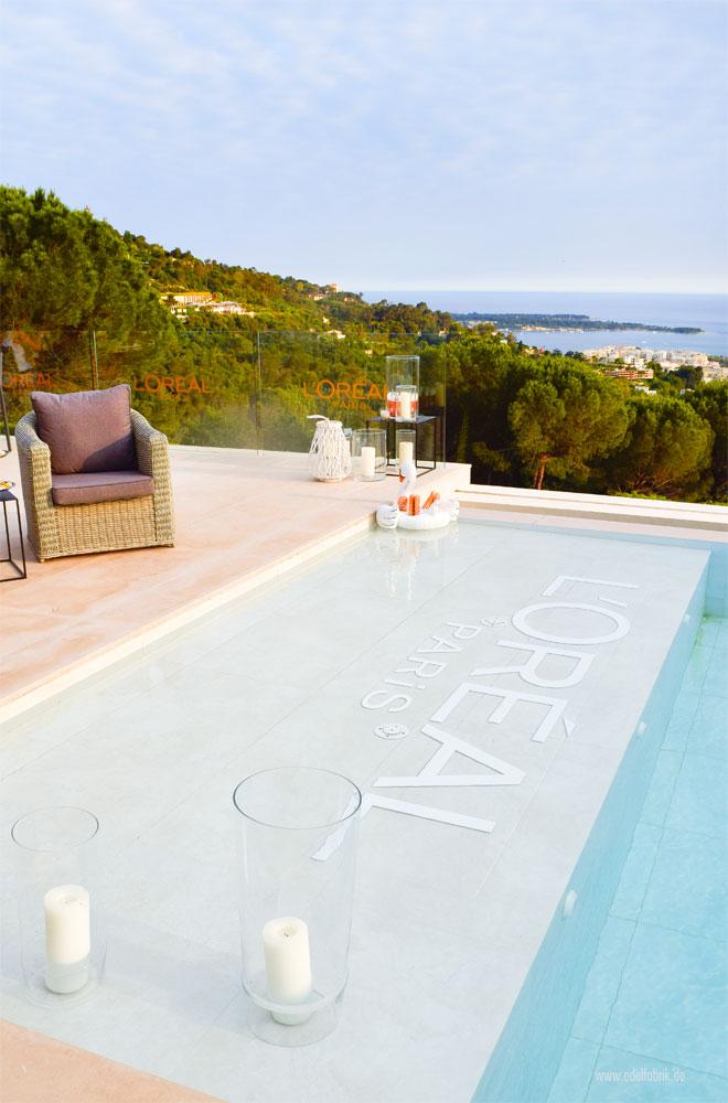 Mit Elvital Öl Magique in Cannes, ein toller Pool