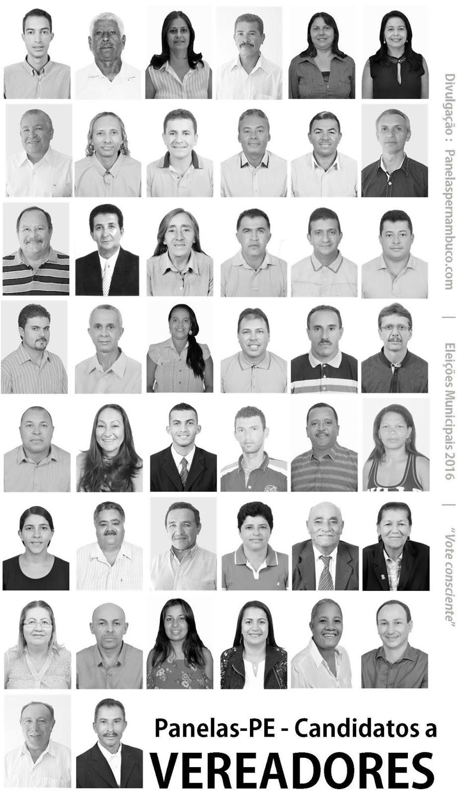 Candidatos a vereador no Município Panelas-PE nas Eleiçoes 2016