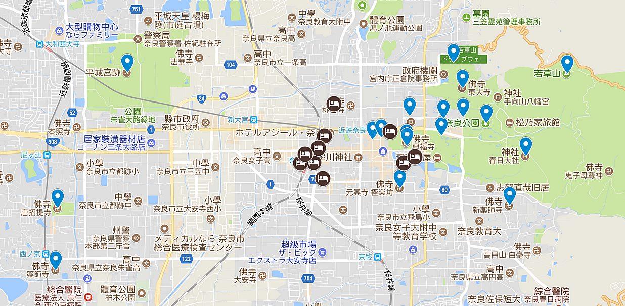 奈良-住宿-推薦-飯店-旅館-民宿-酒店-市區-便宜-自由行-地圖-景點-日本-Nara-Hotel-Best