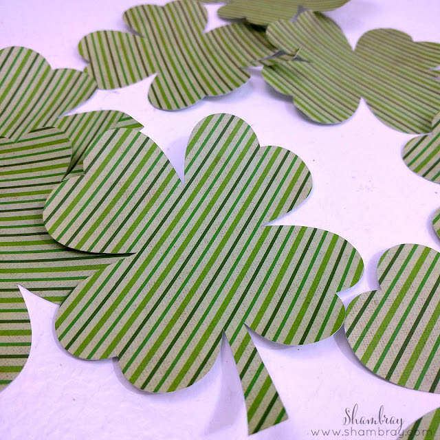 Wooden St. Patrick's Day Garland Cut Shamrocks
