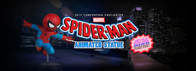 San Diego Comic-Con 2017 Exclusive Spider-Man Animated Marvel Mini Statue by Gentle Giant