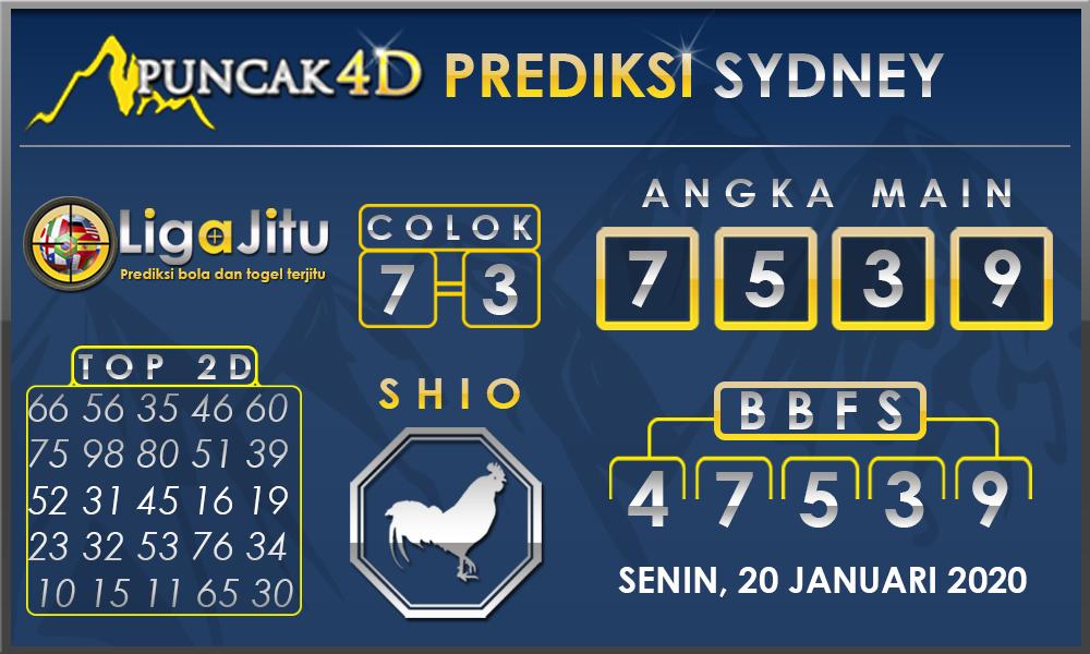 PREDIKSI TOGEL SYDNEY PUNCAK4D 20 JANUARI 2020