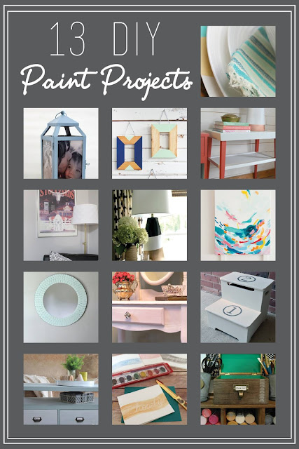 13 DIY Paint Projects- The Monthly DIY Challenge