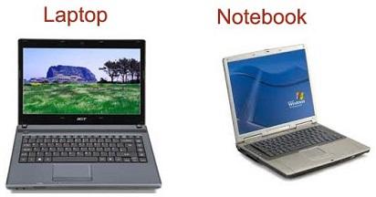 Mengetahui Perbedaan Notebook dan Laptop