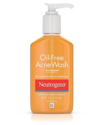 Neutrogena Oil-Free Acne Wash Produk Pembersih untuk Menyembuhkan Jerawat di Punggung