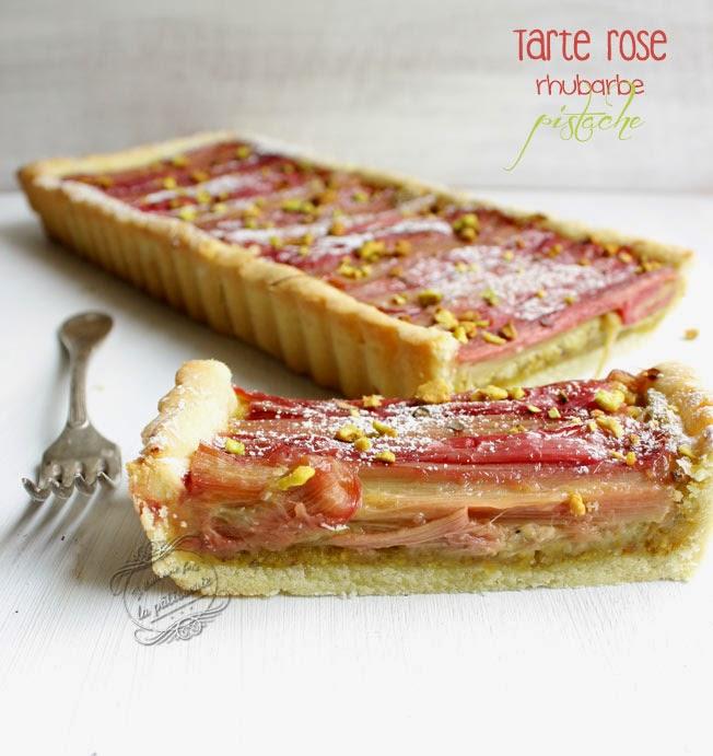 tarte rhubarbe rose et pistache