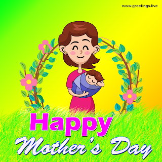 Happy Mother's day High quality Images greetings bom holding a baby