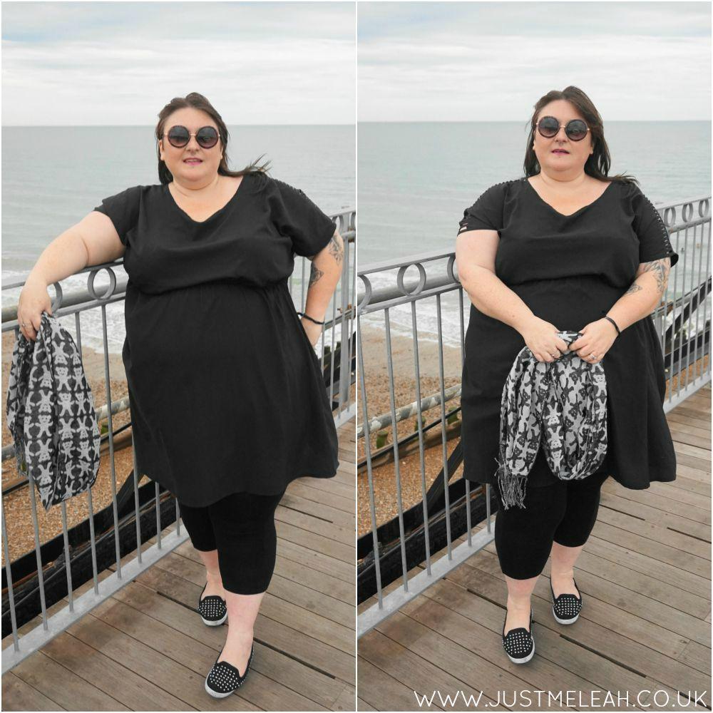PLUS SIZE BLACK AND WHITE OUTFIT