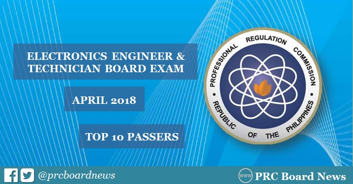 PRC RESULT: April 2018 ECE, ECT board exam top 10 passers