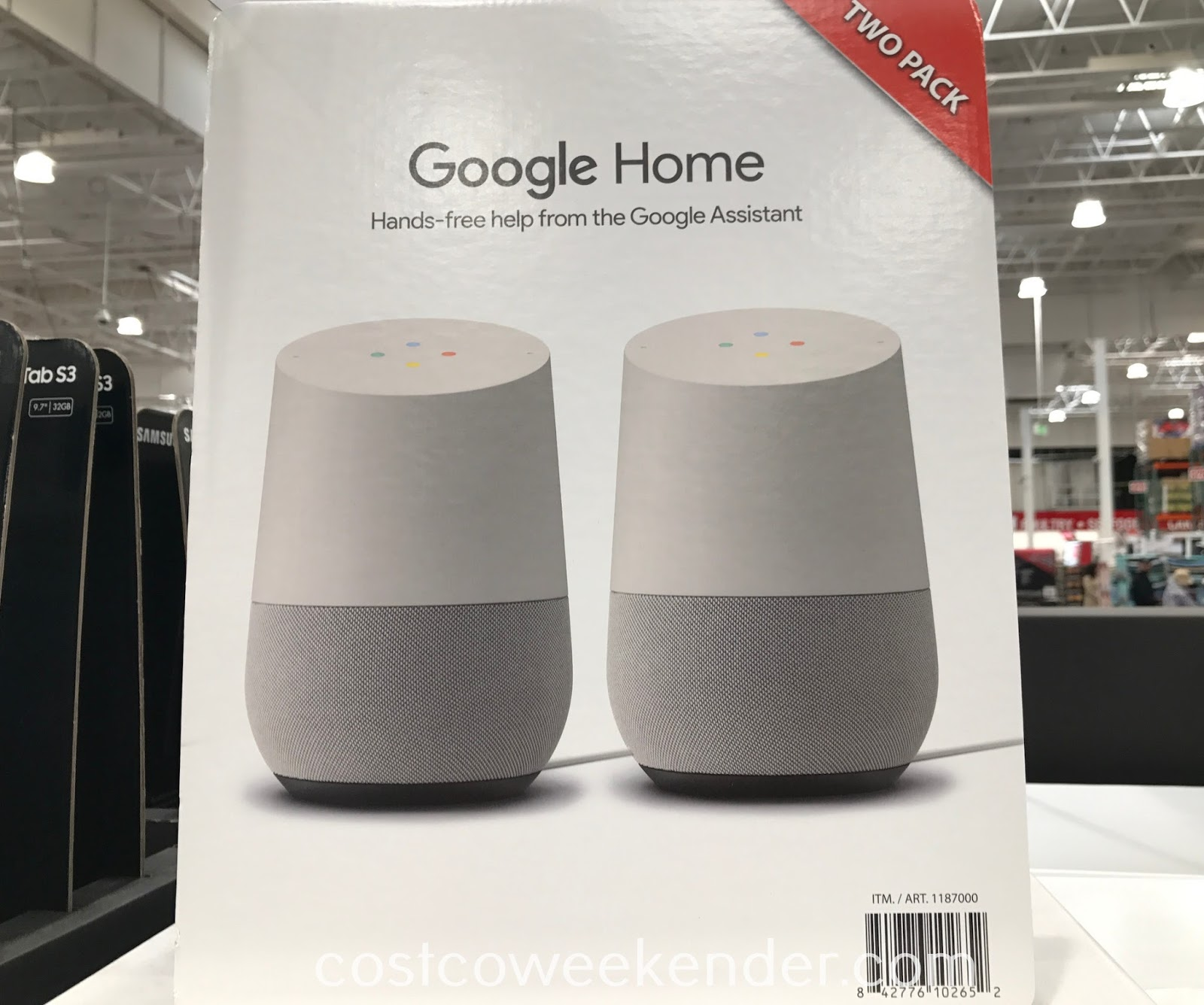 Get simple things done quickly with Google Home Voice Activated Smart Speaker