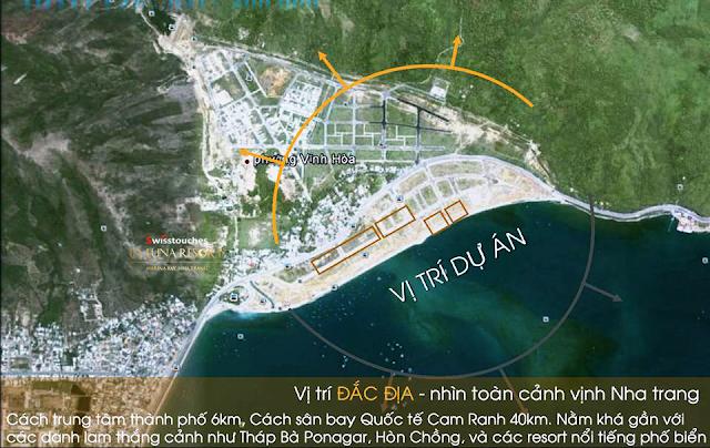 vị trí đắc địa La Luna Resort Nha Trang