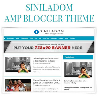 Siniladom AMP Blogger Theme Free
