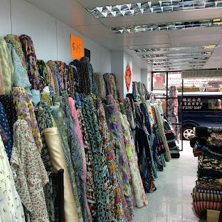 Fabric shop interior // Embellished Elephant