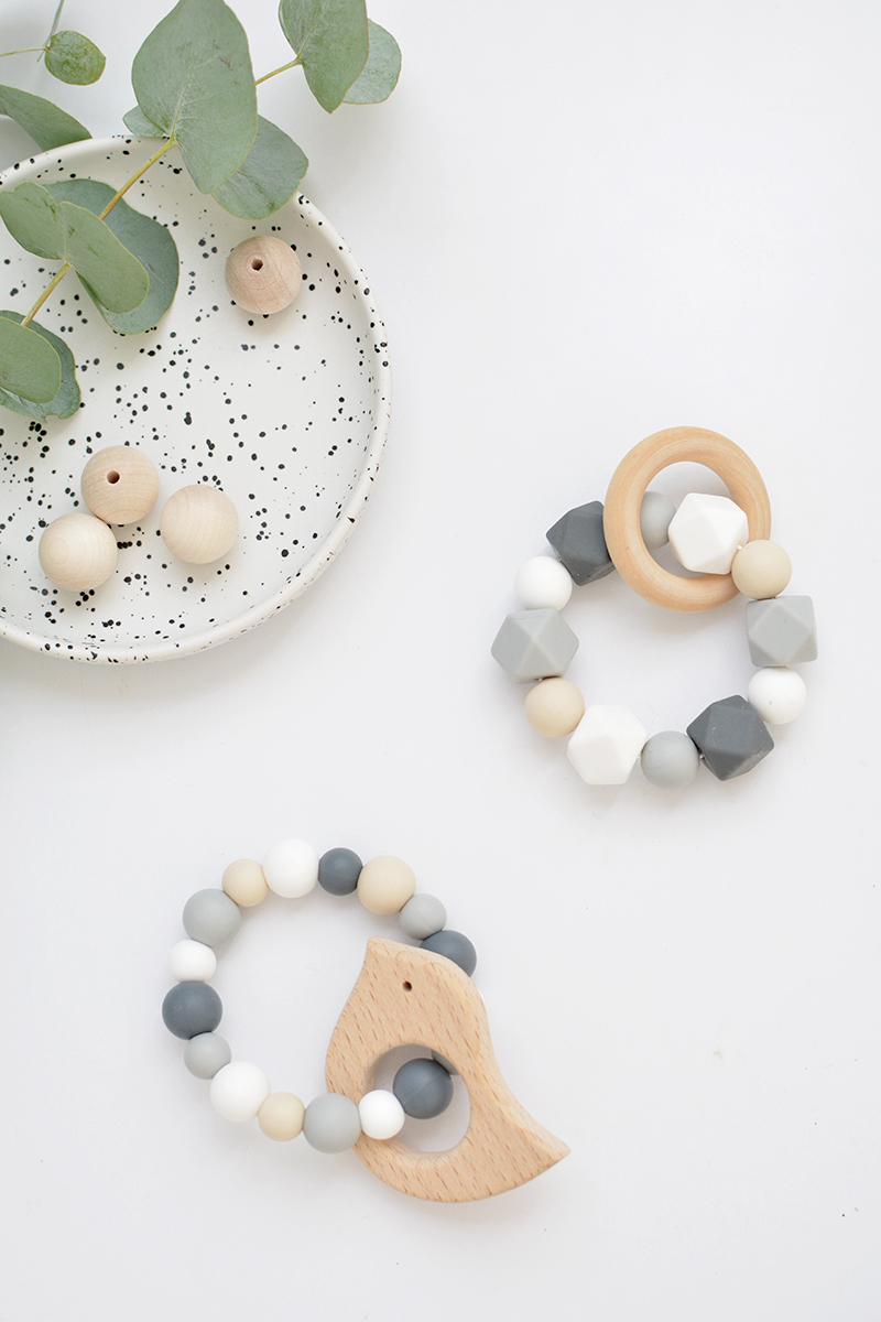 diy modern teething rings