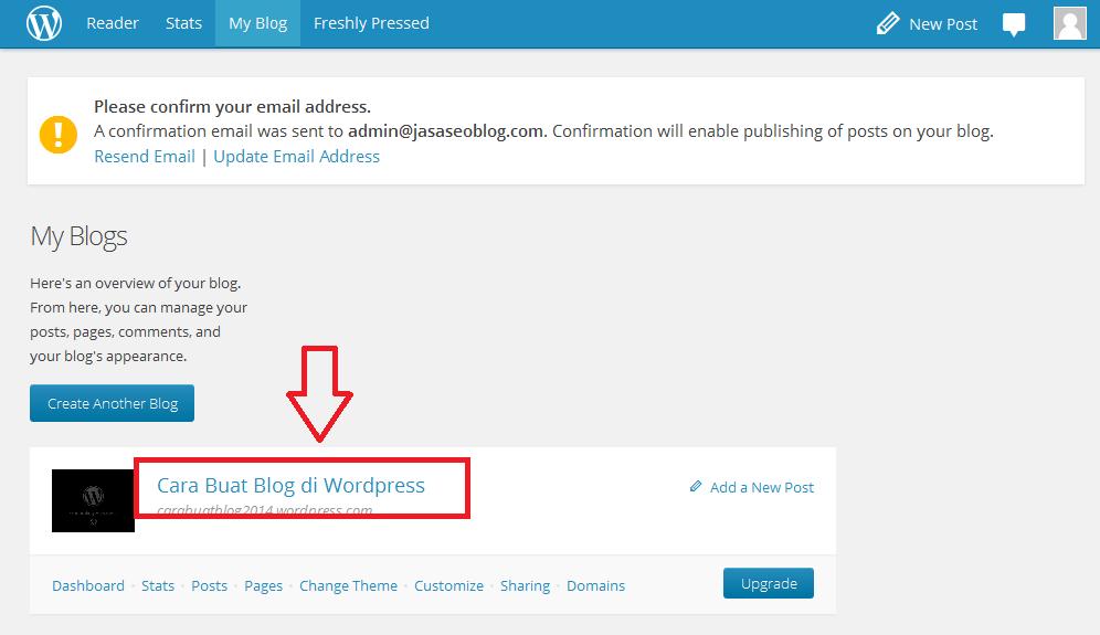 Cara Terupdate Membuat Blog di Wordpress Bagi Pemula