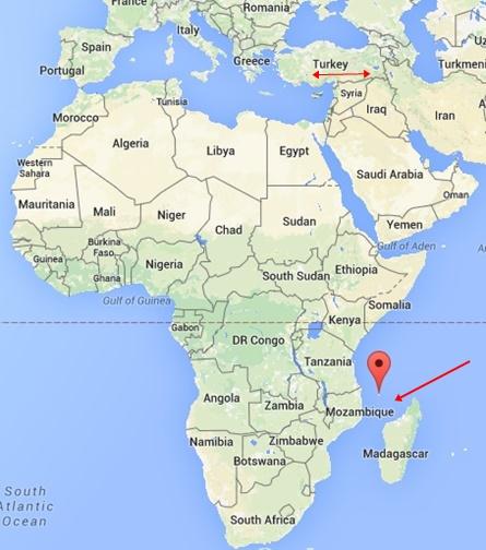 Komor Adaları Nerde, Komor Haritalar