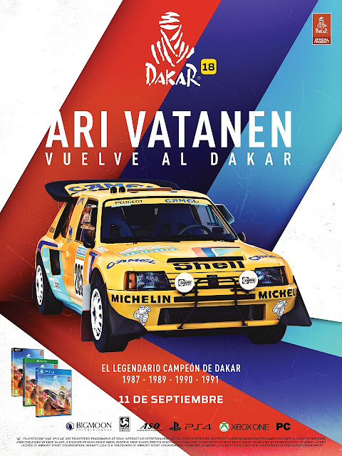 El legendario piloto finlandés Ari Vatanen vuelve a la competición en Dakar 18