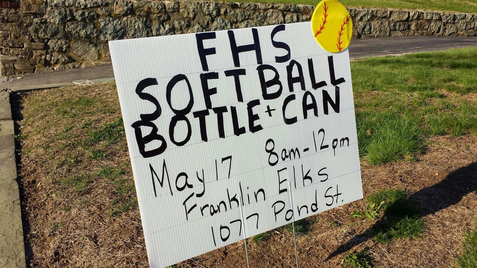FHS Softball - bottle/can drive May 17