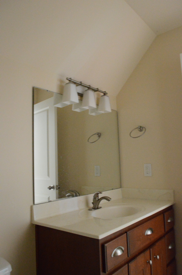 A Bathroom Update with Removable Wallpaper and Paint-Before