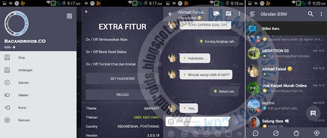 BBM Mod Dark Navy Versi 3.0.0.18 Apk Terbaru