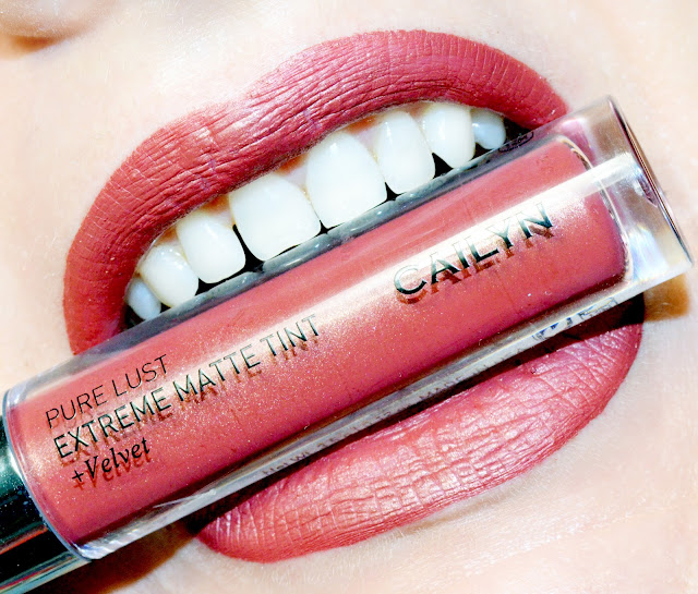 Cailyn Extreme matte tint + velvet # 48 Affirmable обзор свотчи, стойкая матовая помада