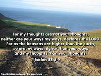 Image result for isaiah 55 my thoughts are not your thoughts