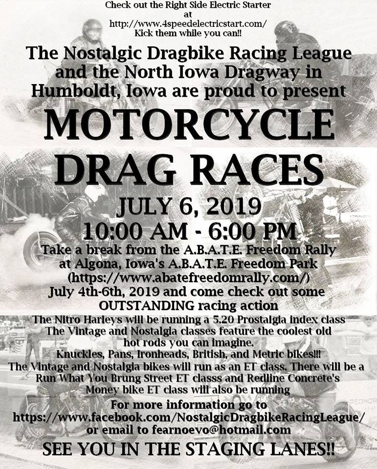 Knucklehead Theology: Motorcycle Drag Races Return to Humbolt Iowa