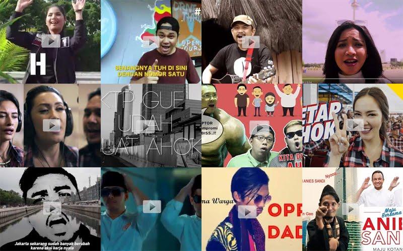 Lagu dan Video yang tercipta selama momen Pilkada DKI 2017