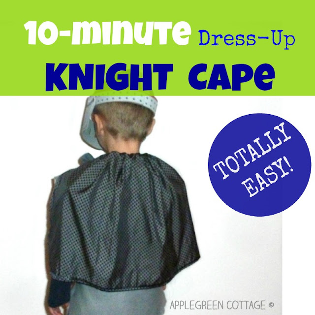 how to make a homemade knight cape for kids on Halloween - easy DIY knight Halloween cape for kids