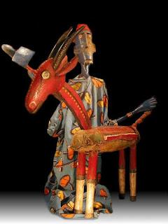 Bamana Farmer and Goat Marionette